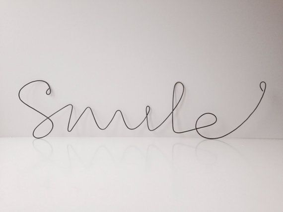 A big cursive Smile word to decor example your wall, frame ...