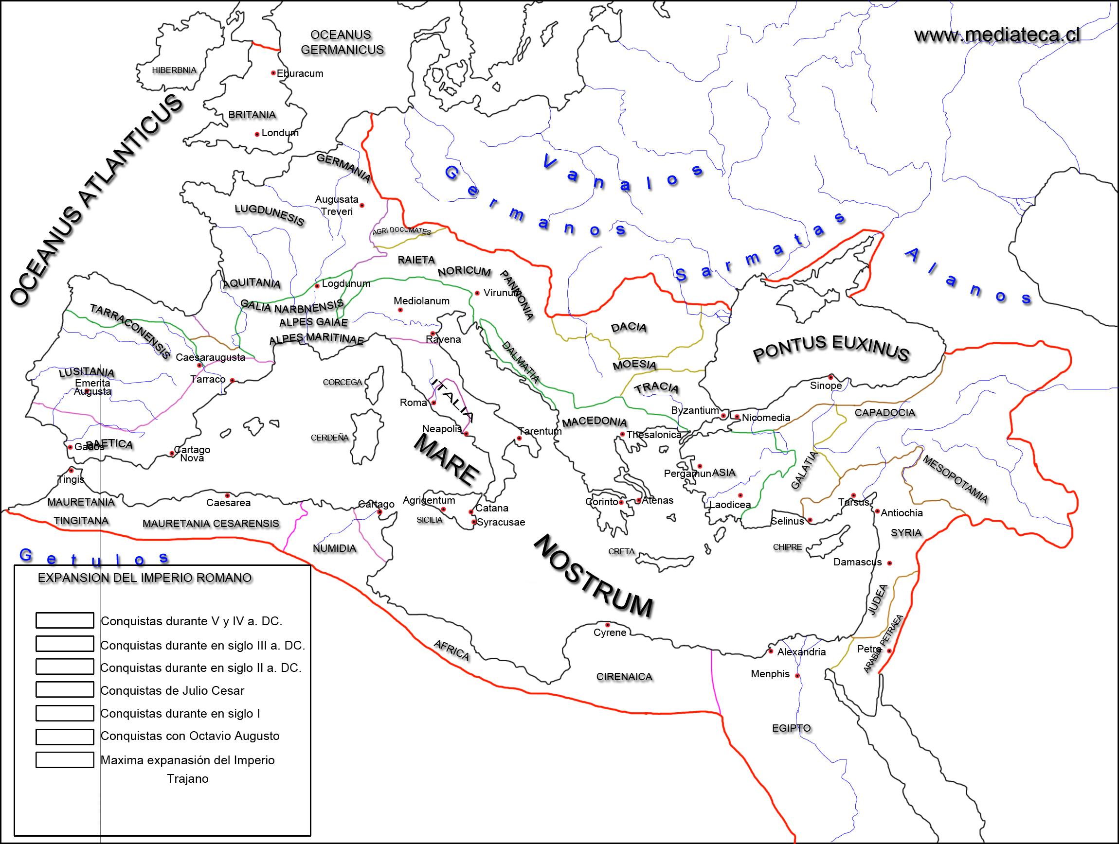 Mapa Imperio Romano Mudo.Pin En Mapas De Roma