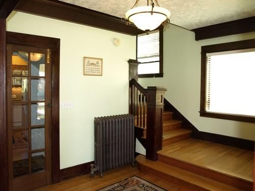 mix of wood from floors to trim