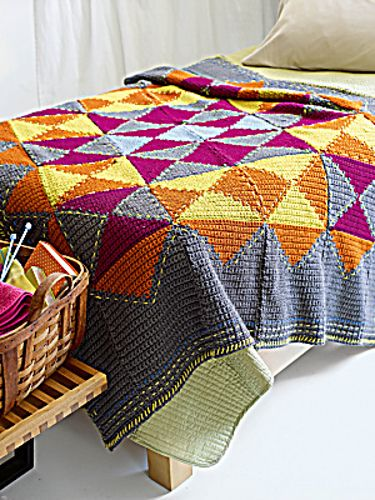 Ravelry: Mix and Match Afghan pattern by Lion Brand Yarn