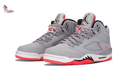 nike air jordan 5 retro gg chaussures de running femme multicolore gris