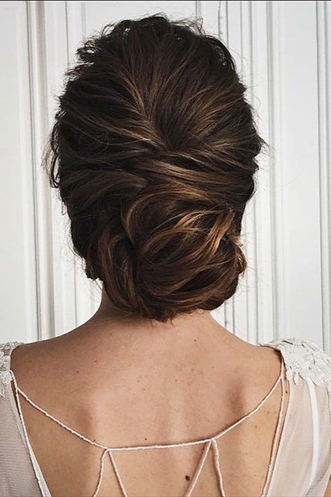 30 Awesome Wedding Bun Hairstyles Wedding outfit