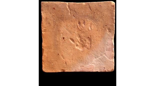 Roman Floor Tile With Hand Print Isle Of Wight Current