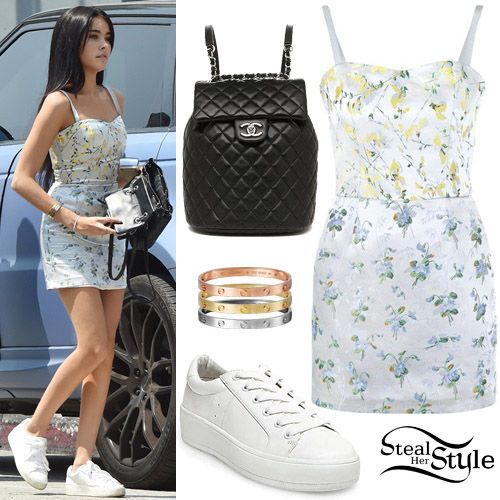 9c0798559b81 Madison Beer was spotted out in West Hollywood wearing an Alexander McQueen  Sweetpea Floral Print Micro Dress ($1,805.00), a Chanel Lambskin Quilted ...