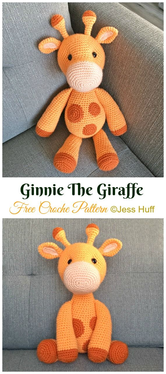 Amigurumi Giraffe Toy Free Crochet Patterns • DIY How To #crochetanimals