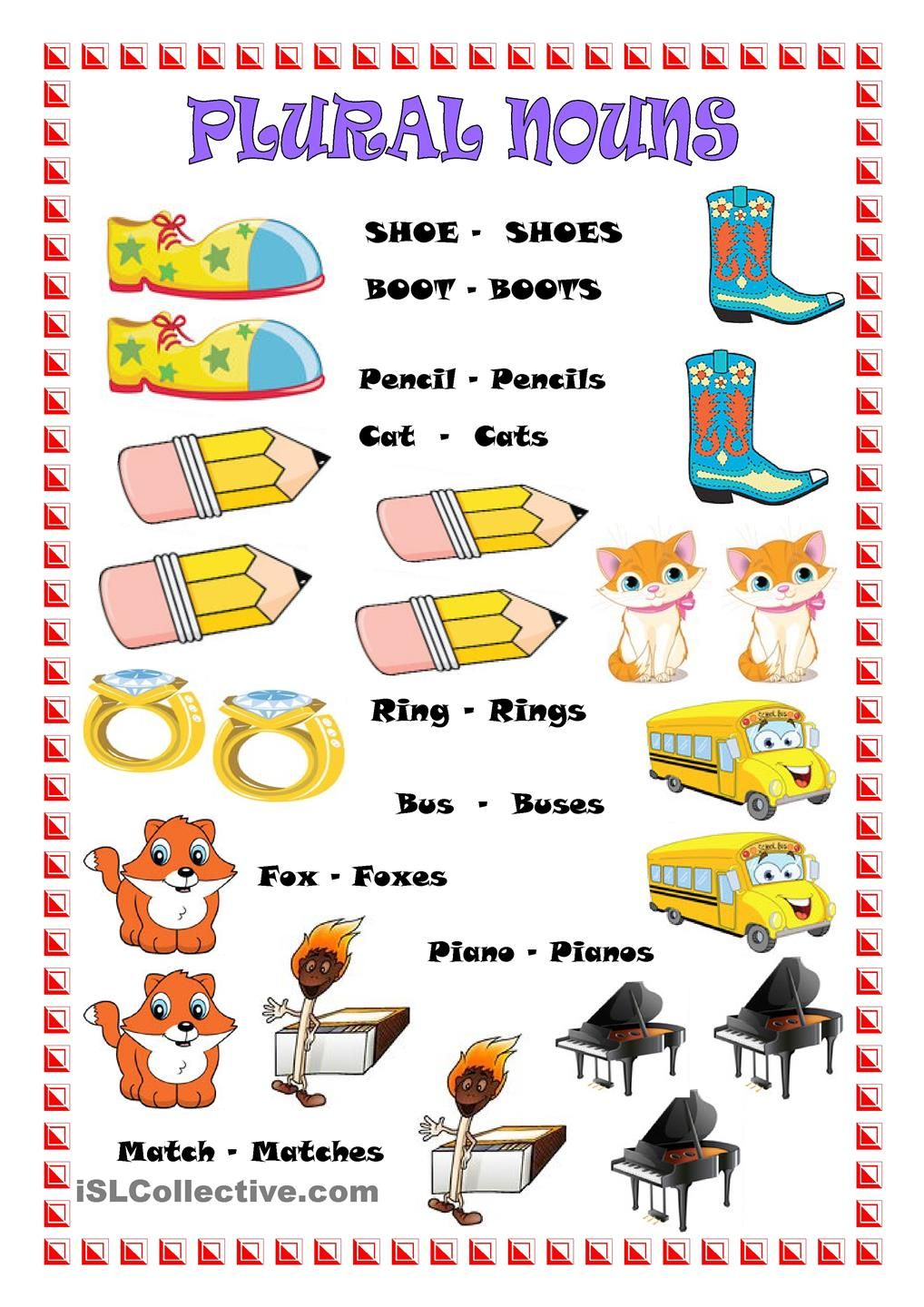 Workbooks making words plural worksheets : PLURAL NOUNS | school | Pinterest | Plural nouns, Plural nouns ...
