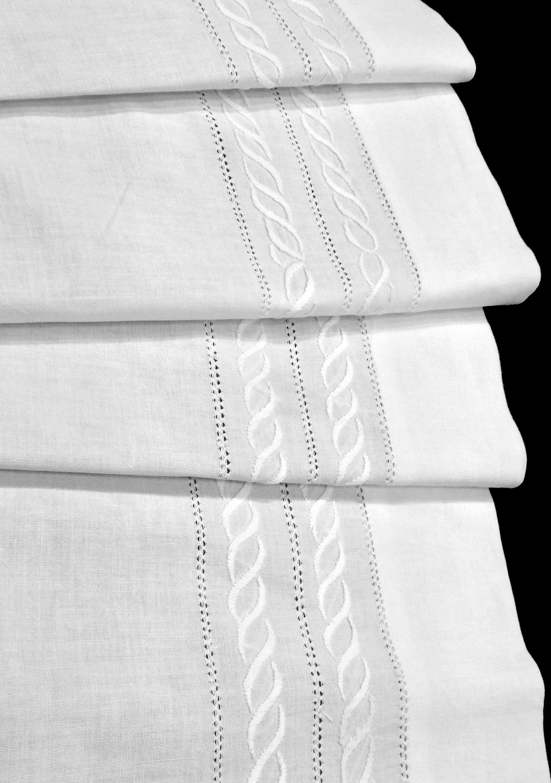 Juego de Sábanas color blanco de Algodón 100%, con embozo