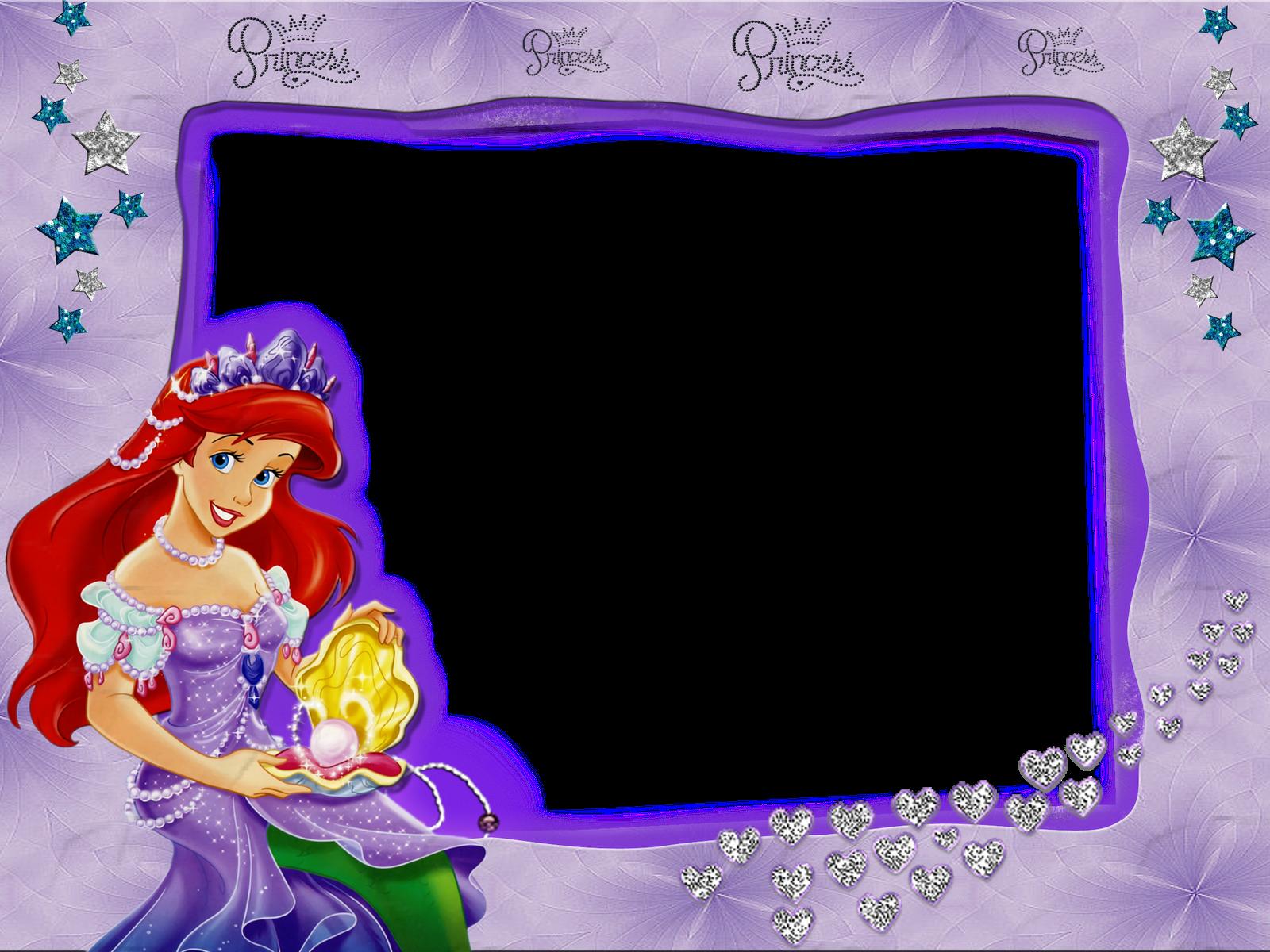 Marcos gratis para fotografías de niñas de La Sirenita de Disney ...