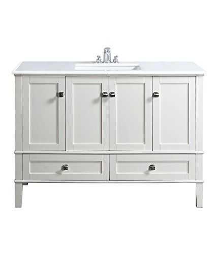 Simpli Home NL-HHV029-48-2A Chelsea Collection 48-Inch Bath Vanity, Soft White