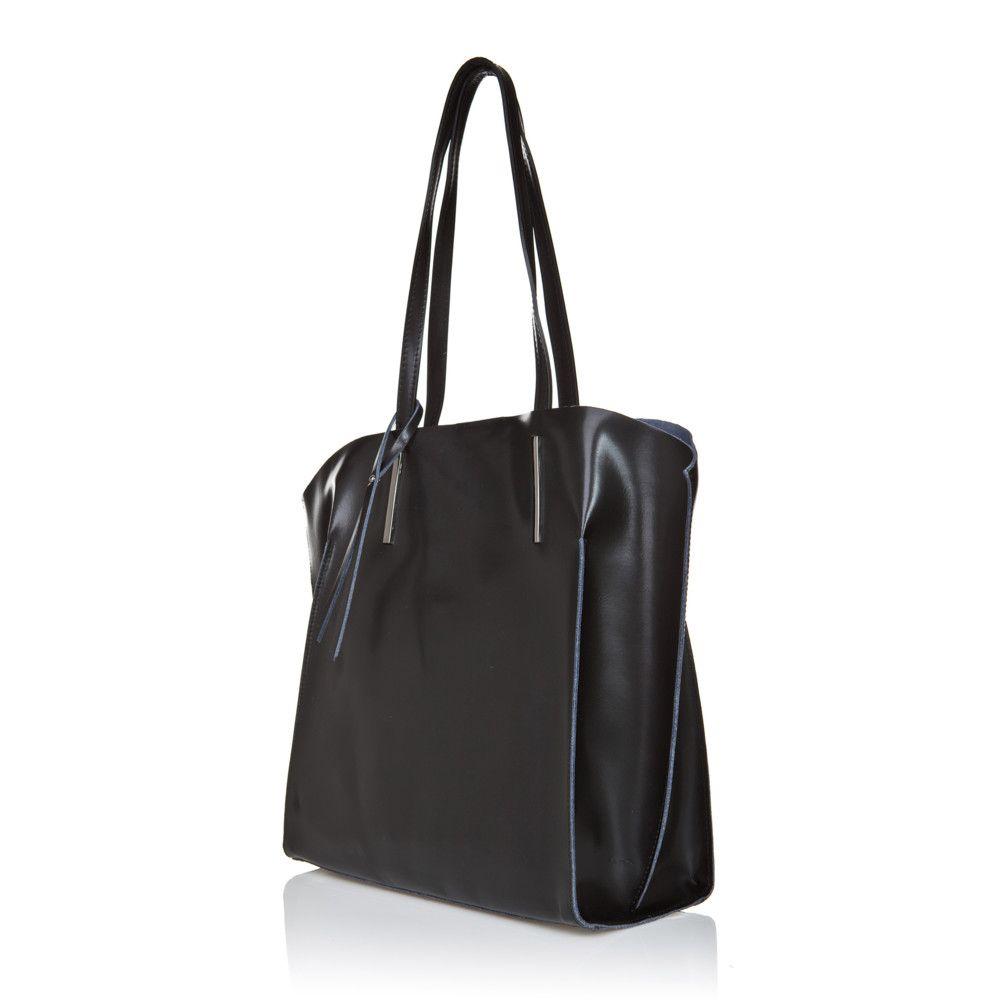 Kožená kabelka Giorgio Costa 2384 Black  d9ed476e1e0