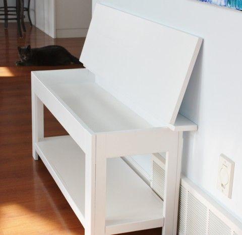 Flip Top Storage Bench