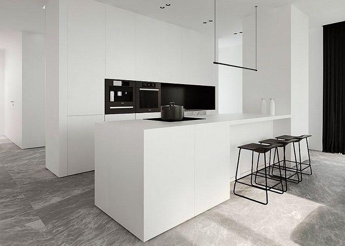Image result for dulux vivid white | Minimalist kitchen ...