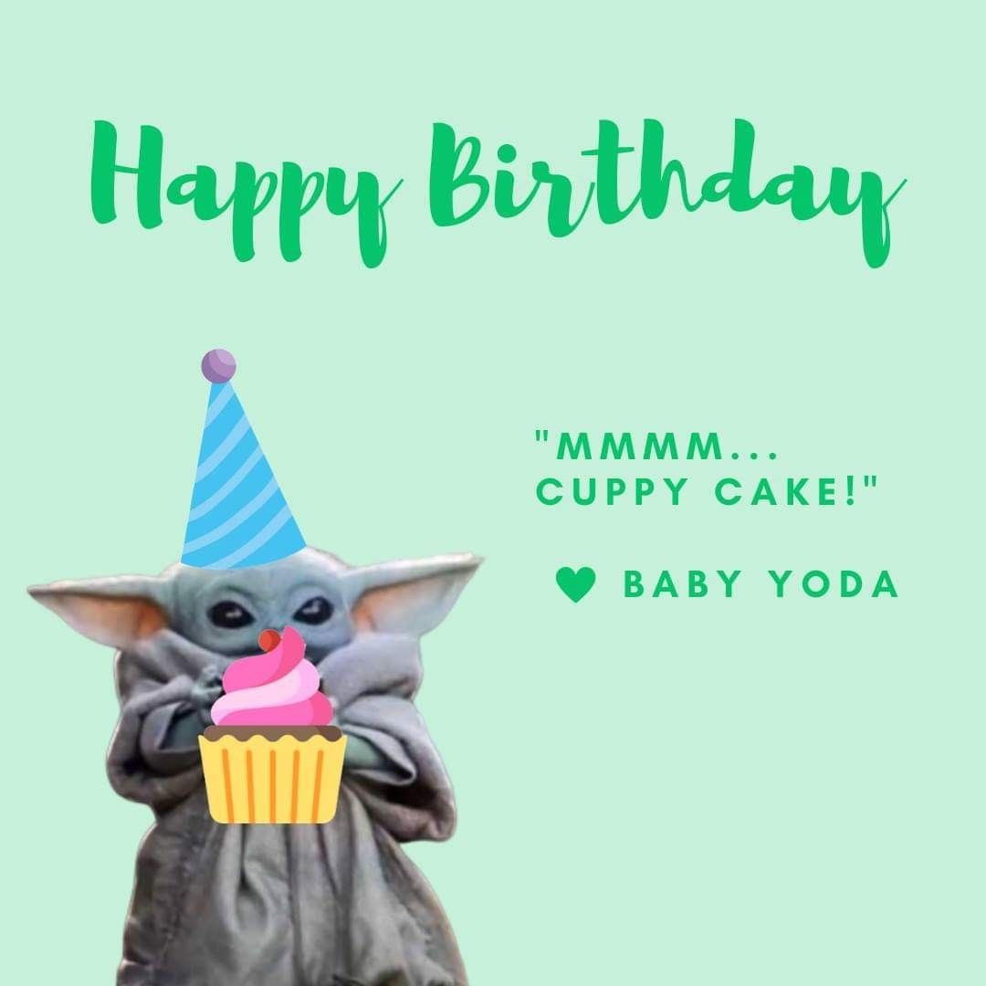 Pin By Butterfly On Memes Yoda Happy Birthday Happy Birthday Wishes Cards Happy Birthday Funny