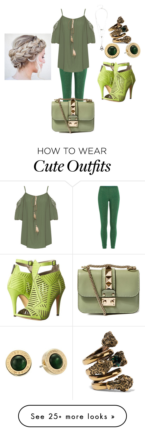 """""""green party in NYC (green outfits contest entry)"""" by hmarbut on Polyvore featuring Missoni, WearAll, Valentino, Michael Antonio, Michael Kors and Gucci"""