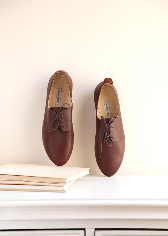 e6fc1074cc4ae The Oxford Derby Shoes in Chocolate Brown | Leather Saddle Lace Up ...