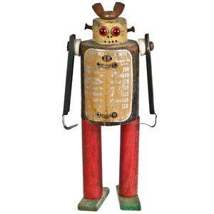 Folk Art Robot - I could make this