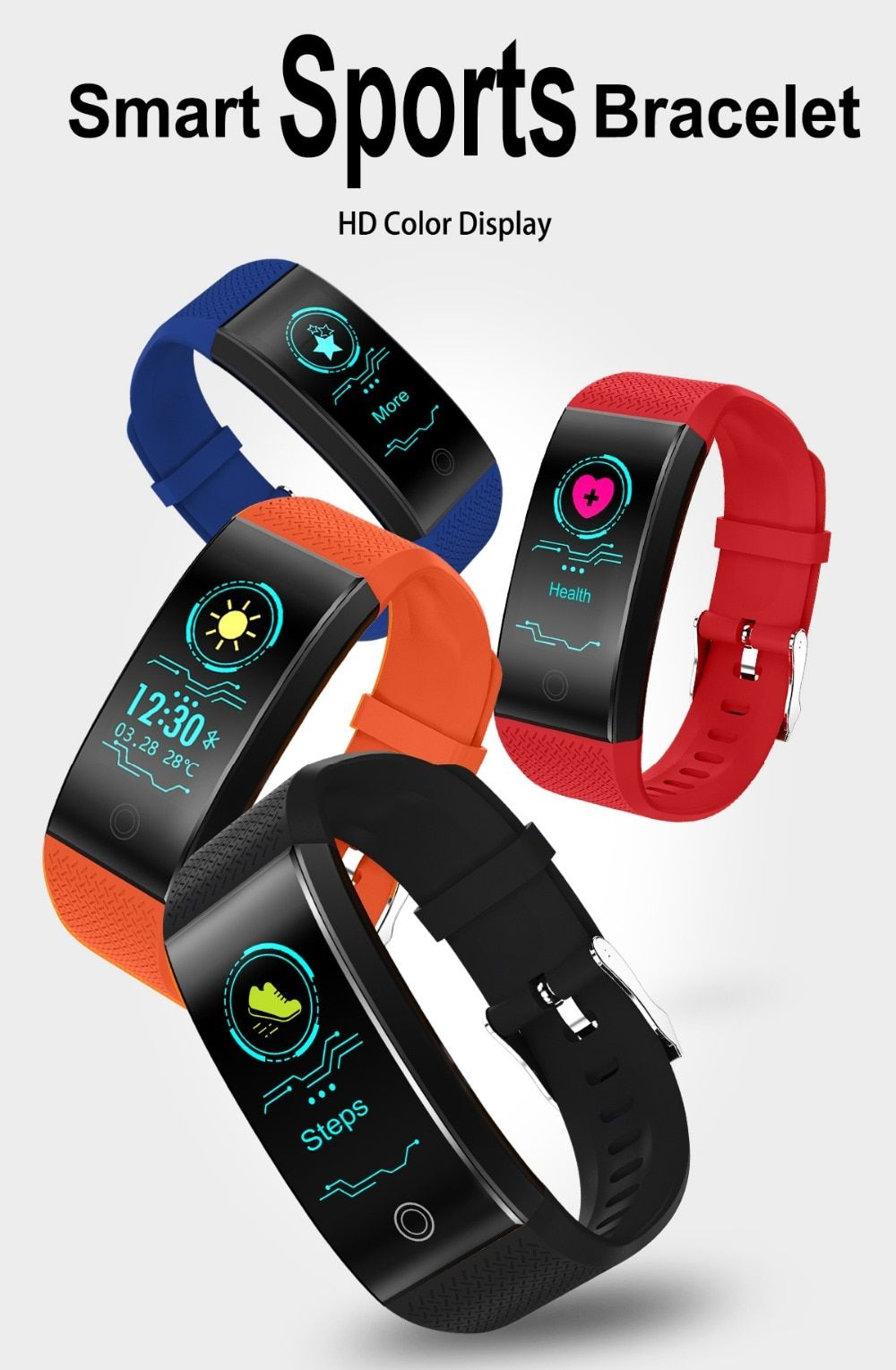 e43e5e0ed99 TLXSA Brand Fitness Bracelet Smart Pedometer Wristband Heart Rate Monitor  Waterproof IP68 Sport Intelligent Bracelet Android&IOS