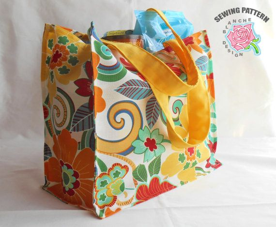 Handmade Reuseable Tote With Pockets