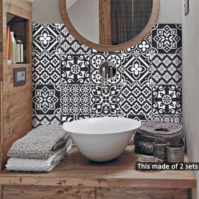 US $18.32 |Yanqiao Moroccan Tiles Traditional Talavera Wall Sticker Bathroom Kitchen Decal Art Decor Peel and Stick Waterproof 10 Pcs/Set|Wall Stickers|   - AliExpress