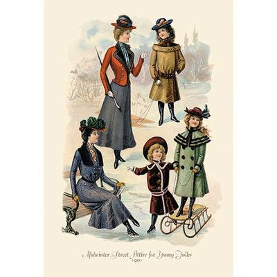 Buyenlarge 'Midwinter Street Attire for Young Folks' Vintage Advertisement