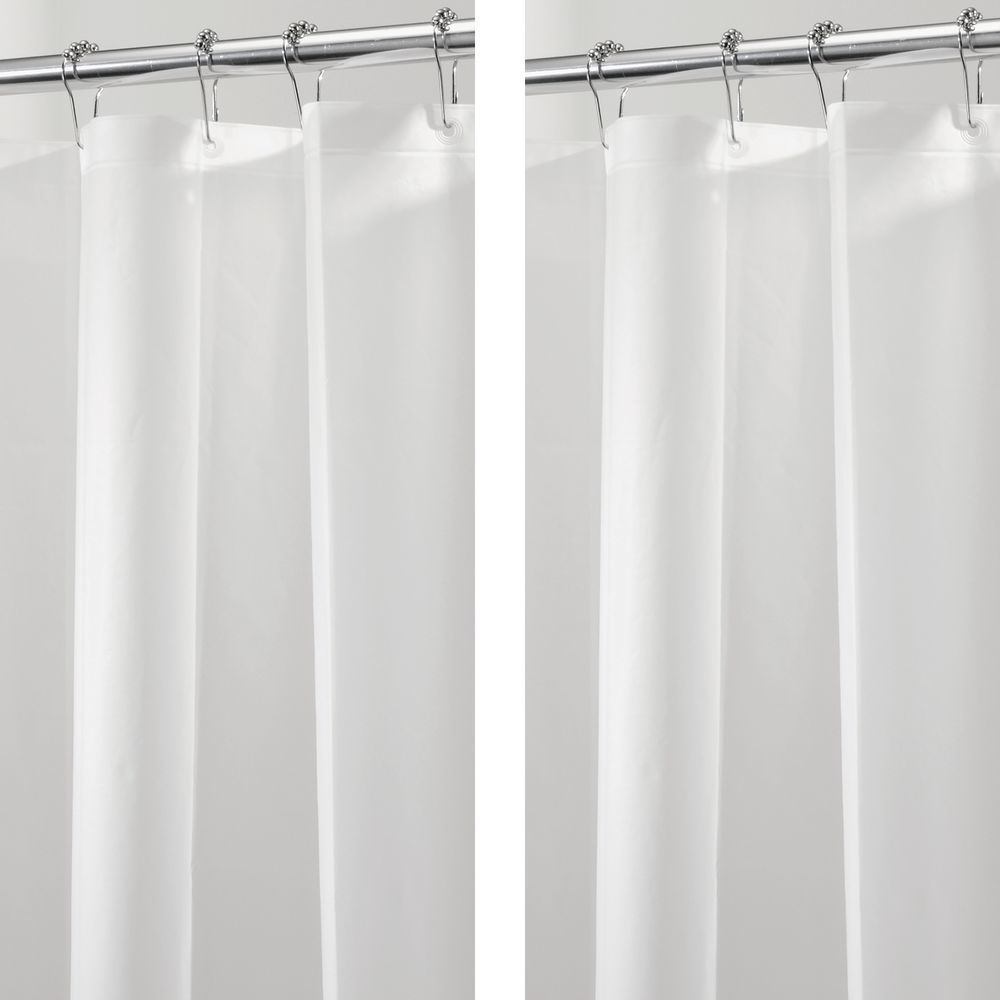 Peva Shower Curtain Liners For Bath In Smoke Set Of 2 By Mdesign In 2020 Vinyl Shower Curtains Fabric Shower Curtains Bathroom Color Schemes
