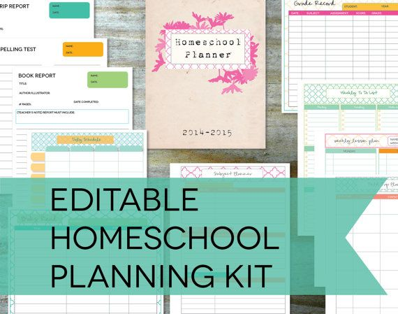 Homeschool Planner Printables - 10 Documents with Bonus Notebook ...