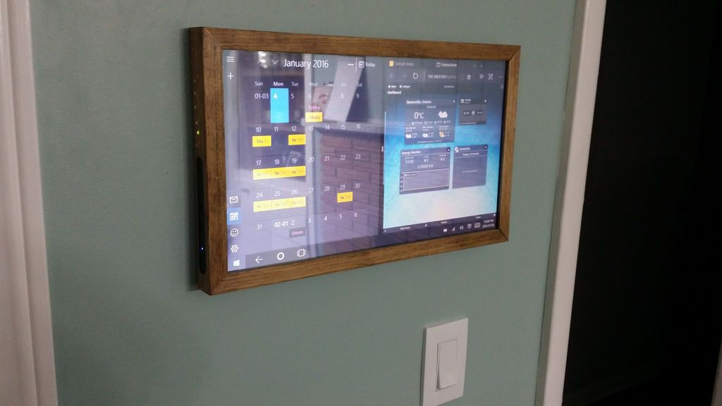 Touchscreen Wall Mounted Family Sync Home Control Panel Home