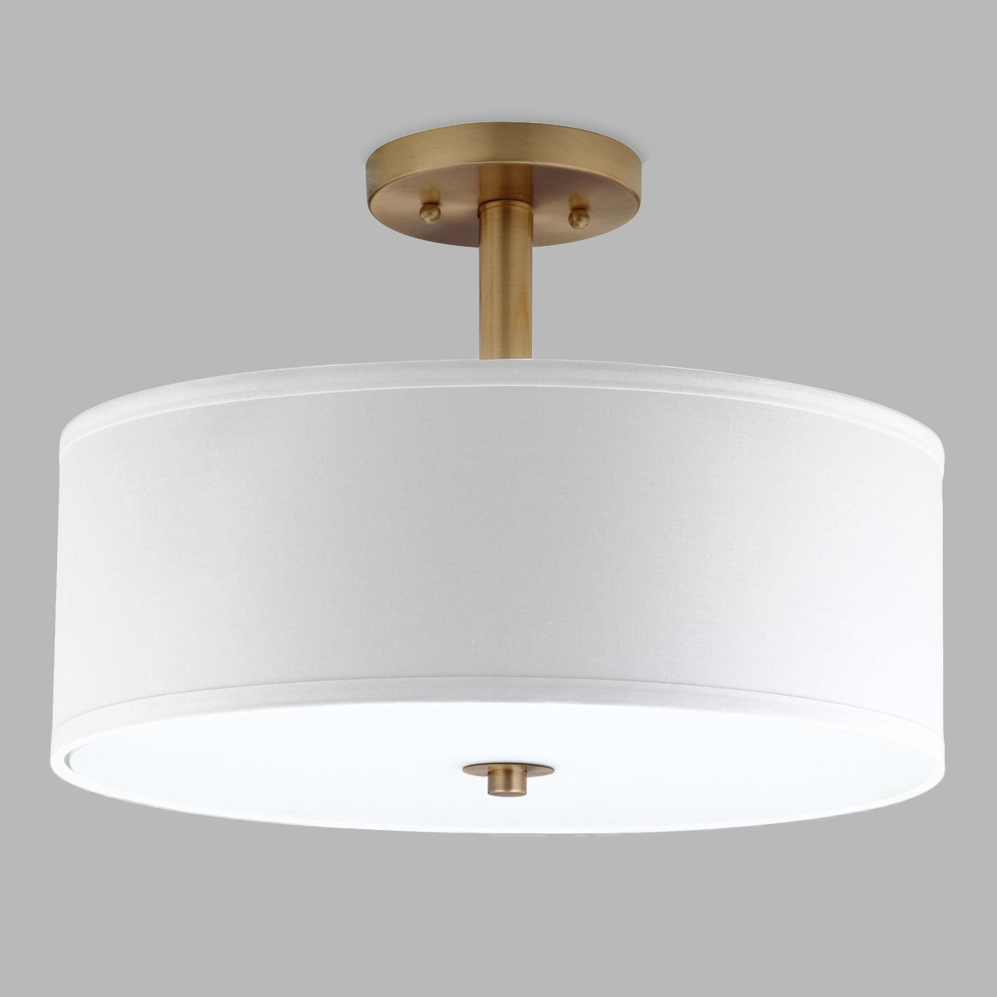 Gold and white flush mount alysian ceiling light by world market