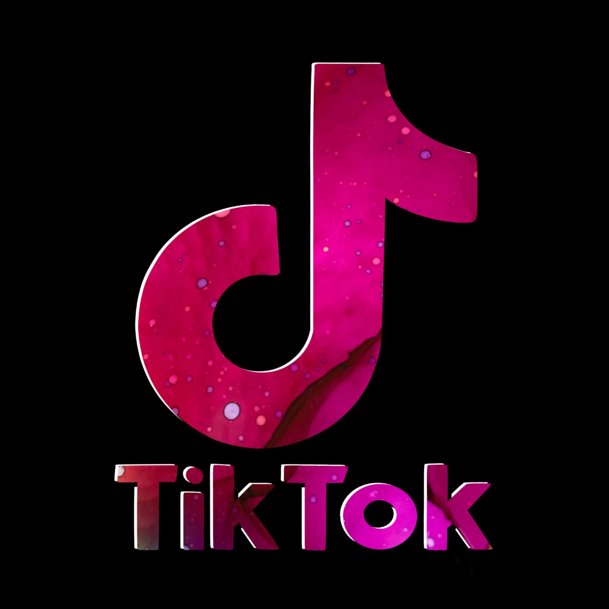 Tik Tok On Redbubble For Christmas By Tik Tok S Bs Abstracts Neon Logo Purple Aesthetic Galaxy Wallpaper