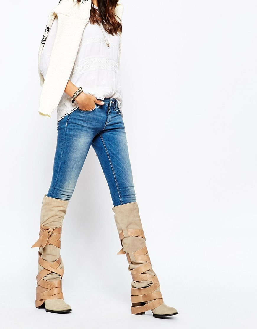Image 1 of Free People Paradiso Suede Wrap Knee Boots | Lust have ...