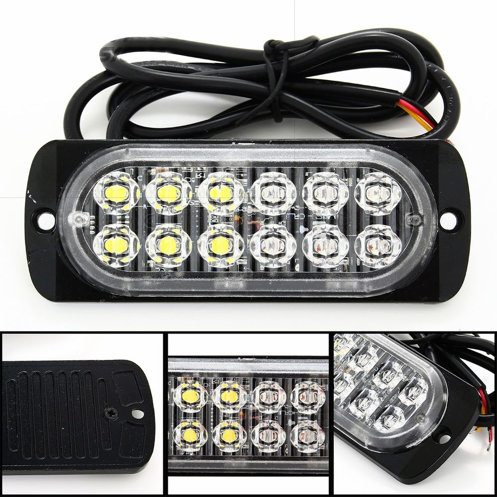 Strobe Lights For Cars Adorable Emergency Strobe Lightsges Universal 36W 12Led 2Flashing Mode Car Review