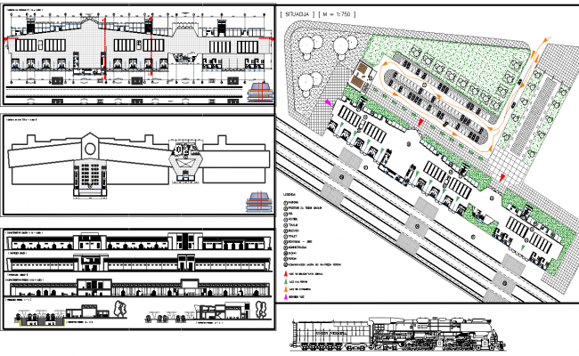 Railway Station Project dwg file | Railway station ...
