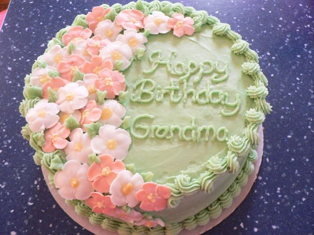 littleredhencakescom Sweet and beautiful birthday cake for Grandma