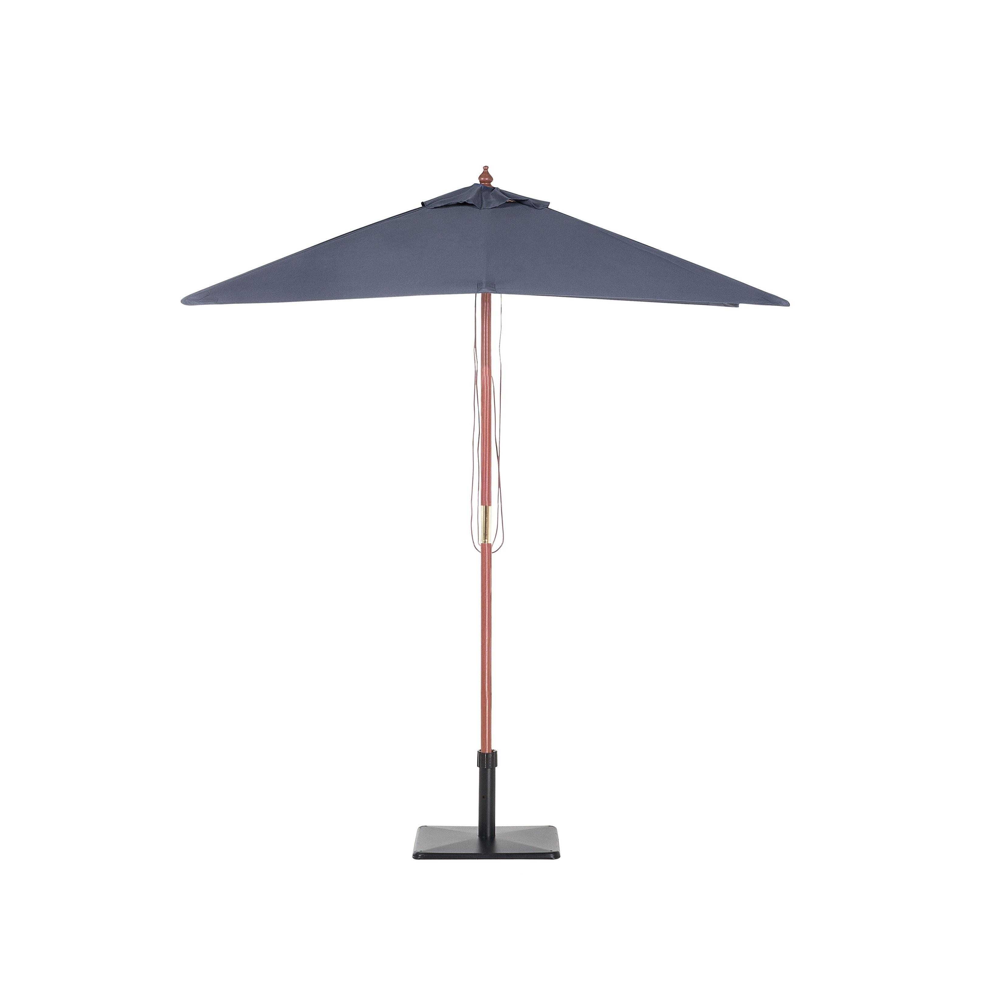 Beliani Patio Market Umbrella Gray Flamenco, Size 8 Ft