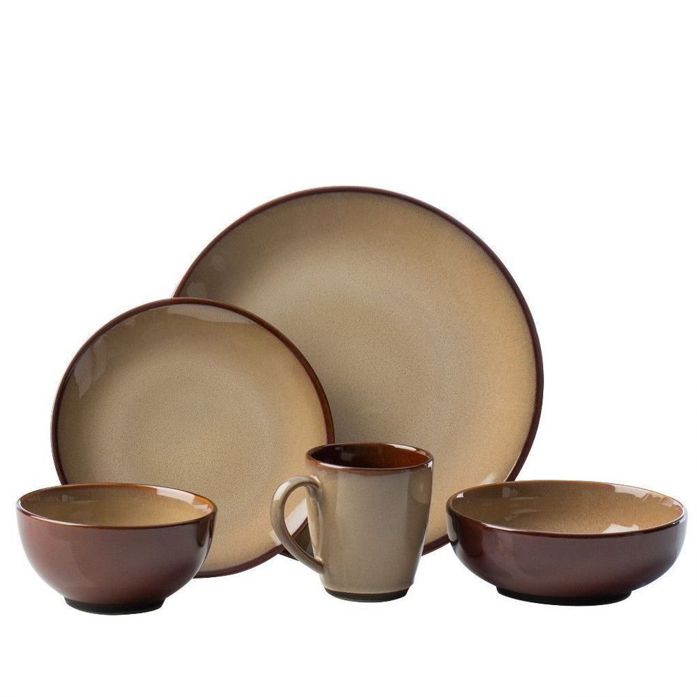 40-Piece Nova Brown Stoneware Dinnerware Set Dining Room Decor #dinnerware  sc 1 st  Pinterest & 40-Piece Nova Brown Stoneware Dinnerware Set Dining Room Decor ...