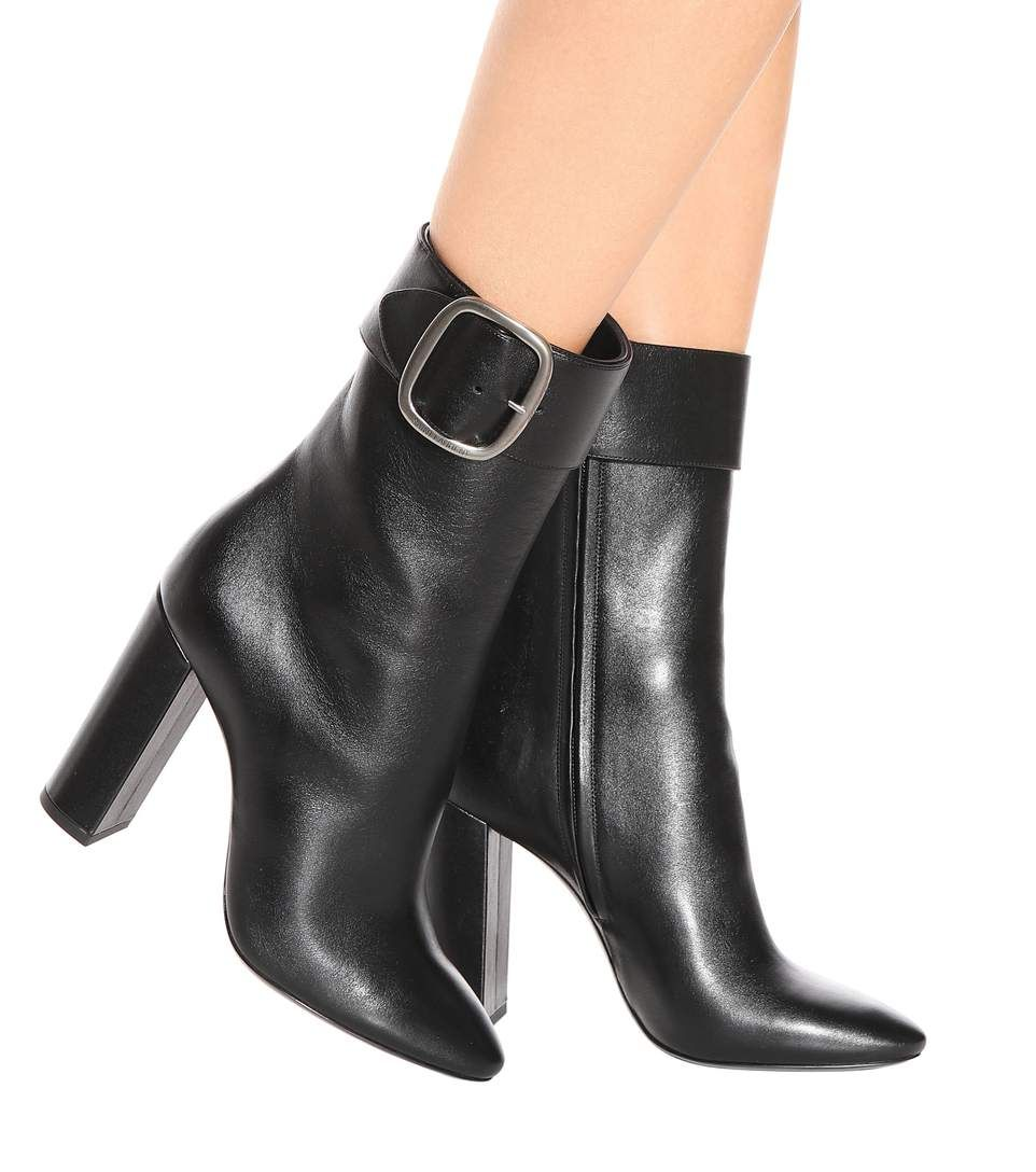 a37667a4 Saint Laurent - Joplin 105 leather ankle boots   mytheresa.com ...