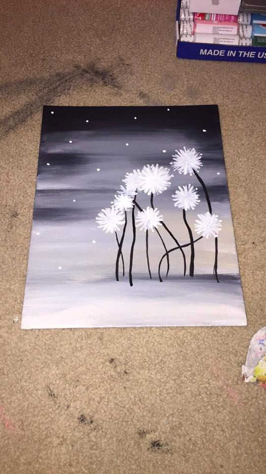 Handmade Artwork 11x14 Canvas Panel (Flat/Thin Canvas) Acrylic Paint ...