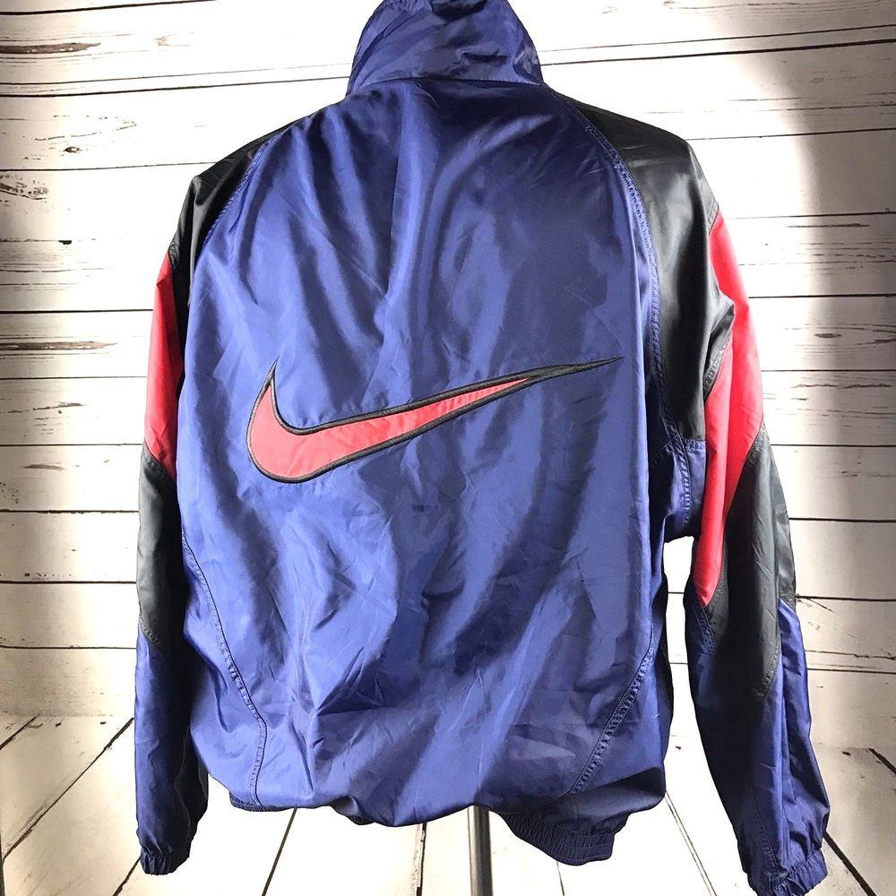 bc89a2b8ba94 Vtg Nike Mens 2XL Colorblock Full Zip Nylon Lined Windbreaker Swoosh Jacket  XXL  Nike  BasicJacket