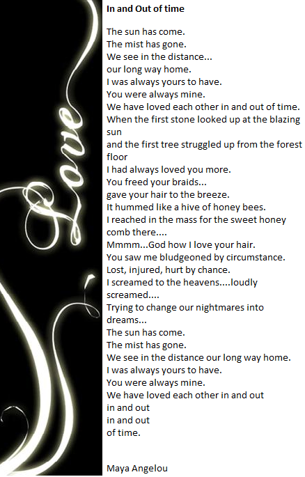 In and Out of Time by Maya Angelou | Quotes | Maya angelou