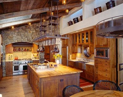 Nice Western Kitchen Decor.. Wow That Island Is Amazing Design Inspirations