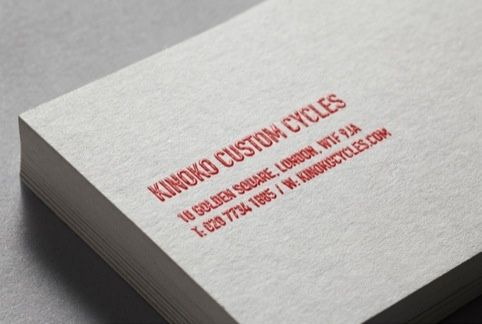 business cards with thermographic printing - Thermography Business Cards