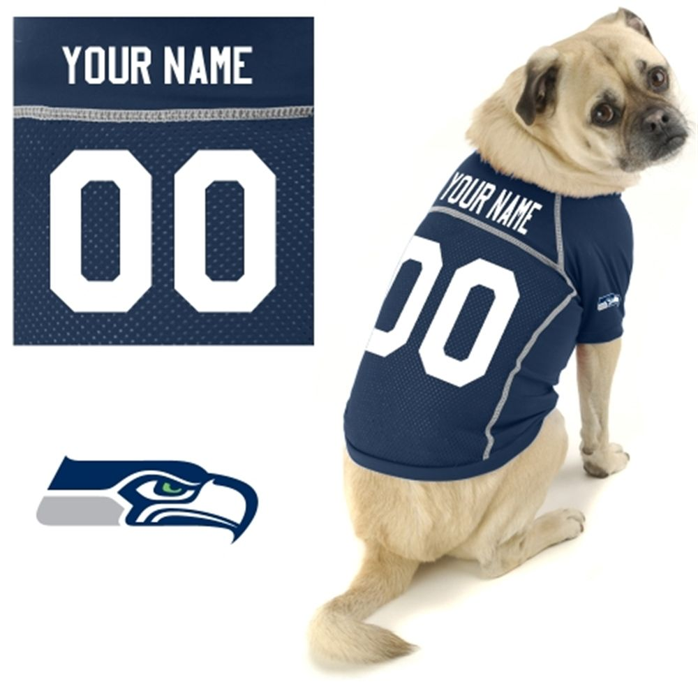 Hunter Seattle Seahawks Custom Pet Jersey  55e2ba222