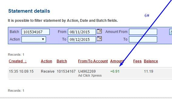 My payment from ACX no # 6 Here is my Withdrawal Proof from Ad Click Xpress. I get paid daily and I can withdraw daily. Online income is possible with ACX, who is definitely paying - no scam here. I WORK FROM HOME less than 10 minutes and I manage to cover my LOW SALARY INCOME. If you are a PASSIVE INCOME SEEKER, then Ad Click Xpress (Ad Click Xpress) is the best ONLINE OPPORTUNITY for you A!! Believe me,online income is possible with ACX http://www.adclickxpress.com/?r=w5nhenvmmxx5&p=aa…