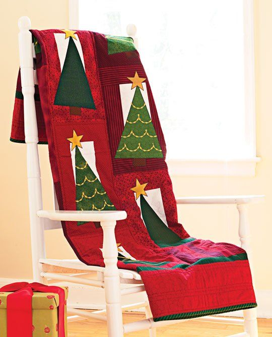 Spruce It Up Throw Christmas Tree Quilt Christmas
