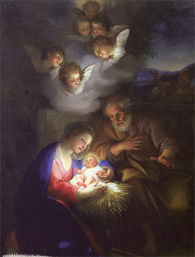 angels watching over baby jesus - - Image Search Results