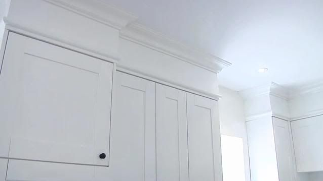 crown moulding and adding a bulkhead can make an ikea kitchen look rh pinterest com