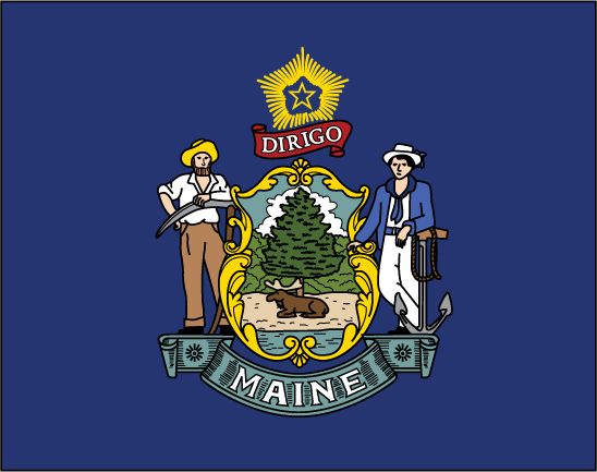 Maine Flag Tatsssss Maine Flag Maine Flag Coloring Pages