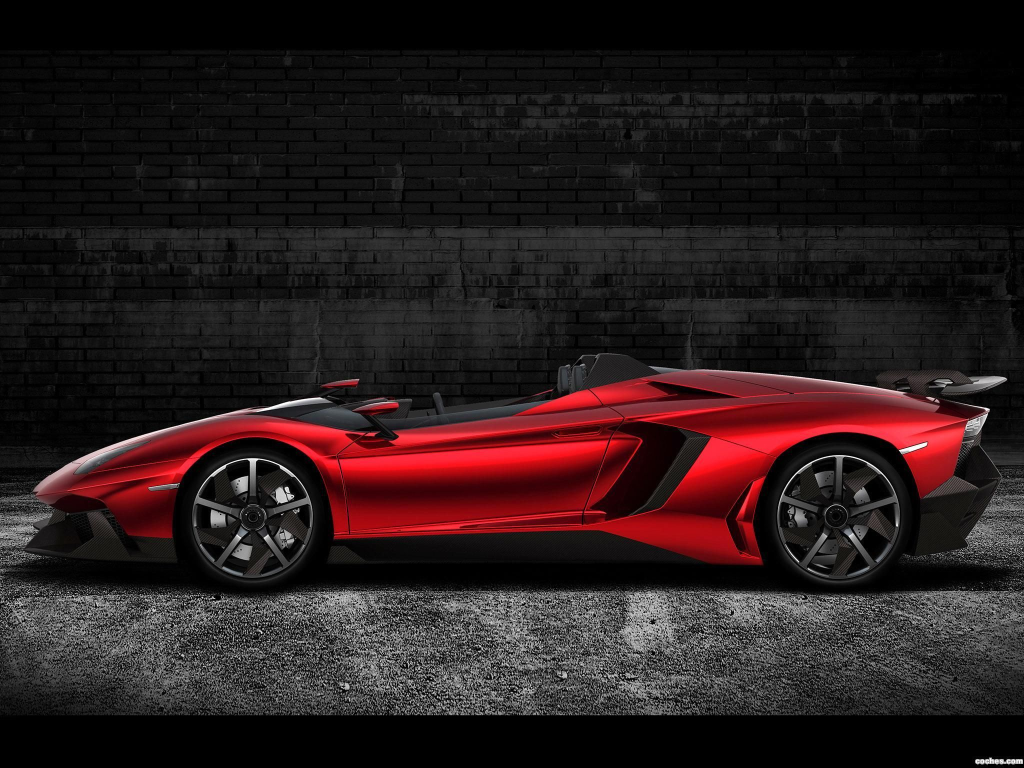 Lamborghini Aventador J Concept 2012 Red Poppy Fiery Red And