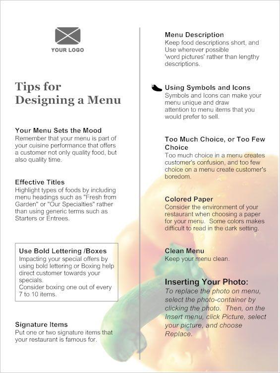 Menu Creating An Effective Menu Design Fine Dining Menu Menu Template Dining Menu