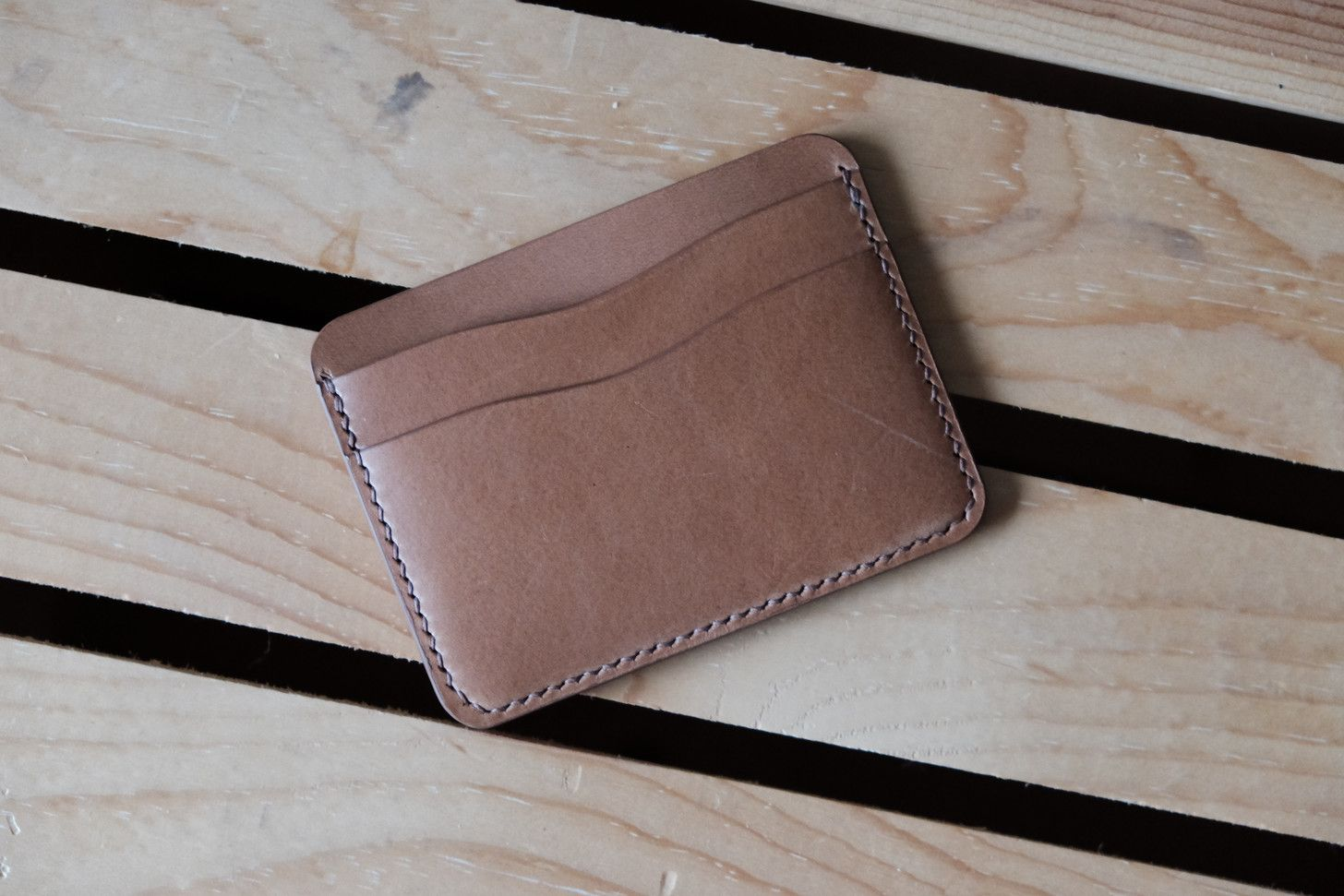 Making A Simple Card Holder Wallet Diy Leather Card Holder Leather Card Holder Pattern Card Holder Leather